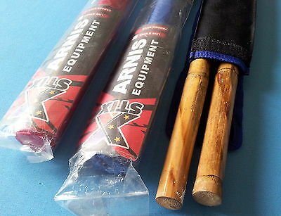 2 foam Padded Arnis training Escrima Filipino Philippine STIX brand & 2 rattan