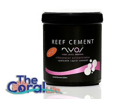 Nyos Reef Cement - 500 Ml - Saltwater Fragging Coral Glue Adhesive Propagation