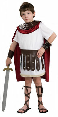 KIDS ROMAN GLADIATOR Boys Costume Fancy Dress Party Caesar Soldier New