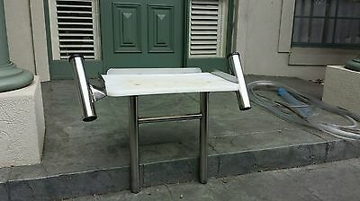 Full Stainless Steel Bait Table with Rod Holders