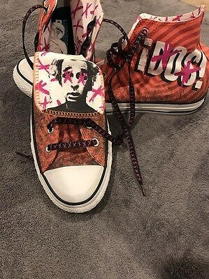 Green Day Converse Dos Shoes Sneakers Size 13 VERY RARE Official Mike Dirnt