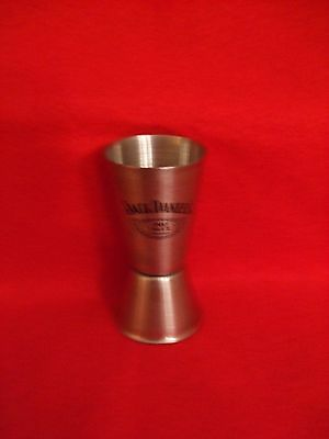 Jack Daniels Stainless Steel Old #7 Shot and 1/2 glass