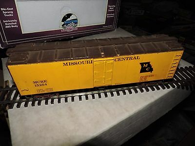Vintage O Scale Yellow Missouri Central Weighted Box Car # Mcre15254