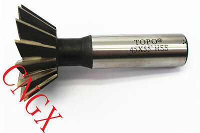 IRON ROOT 1P 25mm X 45° Degree HSS Dovetail Cutter Milling High Speed Steel Tool