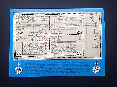Solomon Islands Beaches Charts Miniature Sheet  MNH !!
