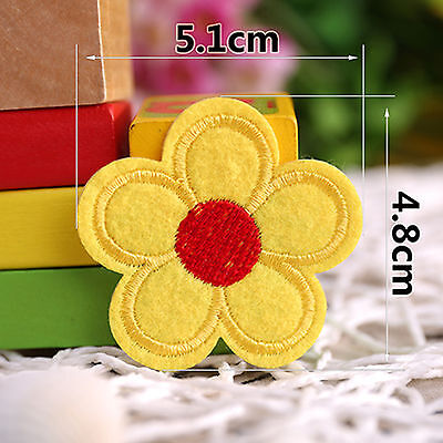 DIY Flower  Patch Embroidered Sew Iron On Badge Clothes Fabric Applique OZ