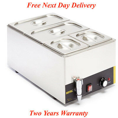Buffalo Bain Marie With Tap Pans Pot Cookware Commercial Electric Food Warmer