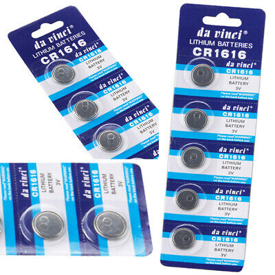 5pcs/Set CR1616 ECR1616 CR 1616 3V Button Cell Coin Batteries for Watch Remote