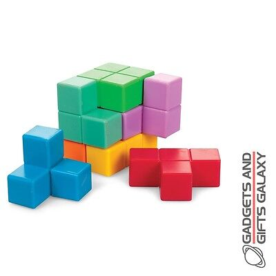 PLASTIC BLOCK BUILDING CUBE PUZZLE DIFFICULT toy gadget novelty childs adults