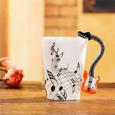 Ceramic Mug Cup Musical Instrument Note Style Coffee Milk Cup Christmas Gift LO