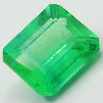 9.75ct MARVELOUS COLOMBIAN GREEN EMERALD CHATHUM LOOSE OCTAGON
