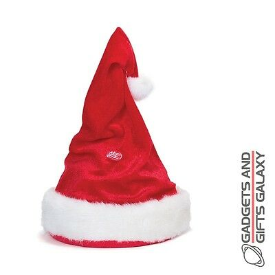 SINGING AND DANCING SANTA HAT ADJUSTABLE christmas novelty gift toy childs adult