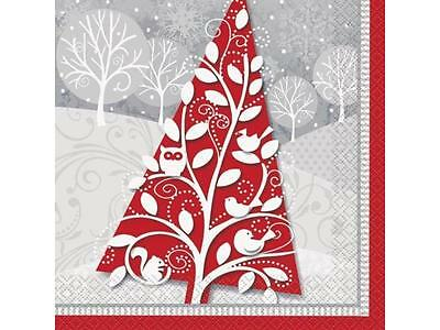 Frosted Holiday Luncheon Napkins 20PK Party Supplies Decoration Xmas Christmas
