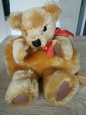 Teddy bear muff By Sue Quinn of Doormouse Designs.  Rare and unusual.