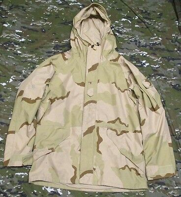 Genuine Us Army Issue Dcu/desert Camouflage Ecwcs Goretex Parka. Large-Long.