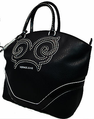 cae43b92c Borsa Donna Shopping Bag Versace Jeans Donna Fashion Bag Strass Black