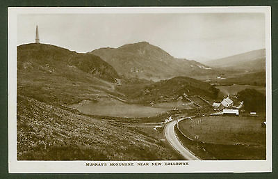 Murray's Monument. New Galloway - Real Photo Postcard by J.Mitchell