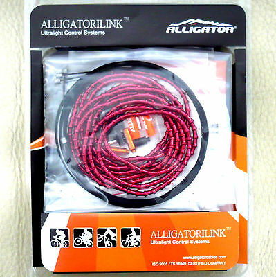 for 5mm cable LY-HPR12-RD 119 gobike88 Alligator red housing shield