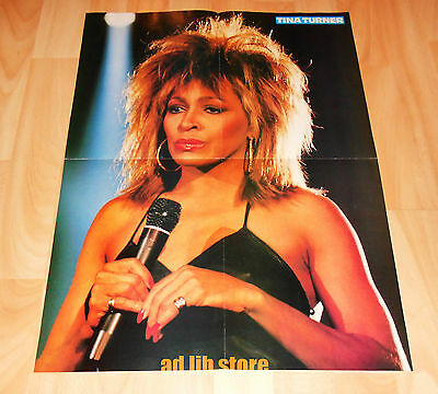 """TINA TURNER AND WHAM FOLD-OUT POSTER  21.5"""" x 16"""" (54,5 x 40 cm) 1980s"""