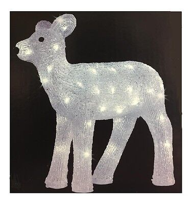 LED Outdoor Acrylic Reindeer Cool White 43cm