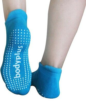 2 Pairs Pilates Yoga Grip Socks For Women, 29 Rows Of Silicon Dots Medium BLUE