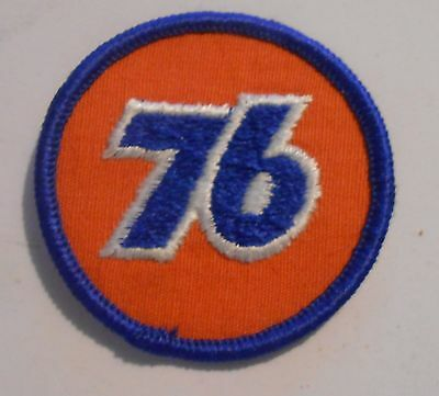 76 Gasoline Patch Embroidered Oil 2 inches  vintage