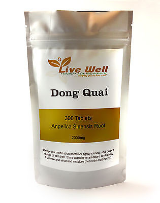 Dong Quai 2000mg Tablets Angelica Sinensis Root Womens Menopause Health
