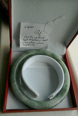 Natural guizhou jade bangle. Not treated in any way. 64mm/50gr. Good bangle