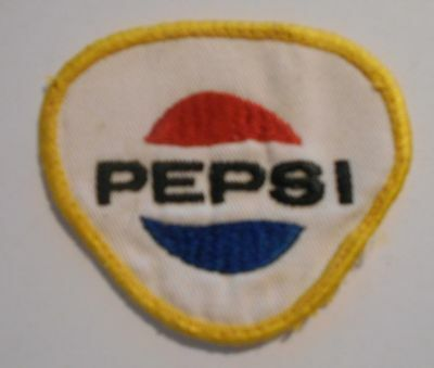 "Pepsi Soda  patch Soft Drink 3"" inches  vintage Triangle"