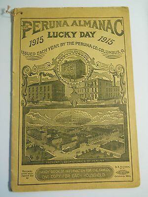 1915 Peruna Almanac Lucky Day 32 Page Booklet