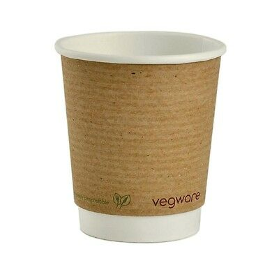 500X Vegware Hot Cups 8oz Pack quantity: 500