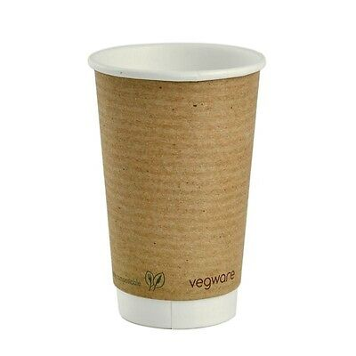 400X Vegware Hot Cups 16oz Pack quantity: 400