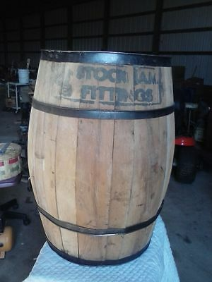 Large Rustic WOOD BARRELWestern Country General Store Decor