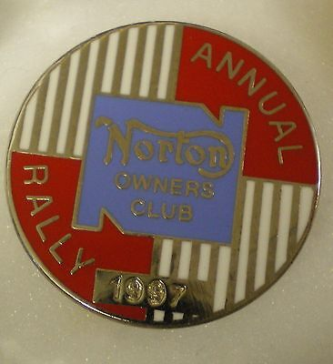 NORTON OWNERS CLUB ANNUAL RALLY 1997 MotorCYCLE MotorBIKE Enamel Lapel Pin Badge