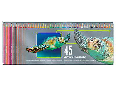 Bruynzeel 45 Colouring Pencils in metal tin - Turtle design