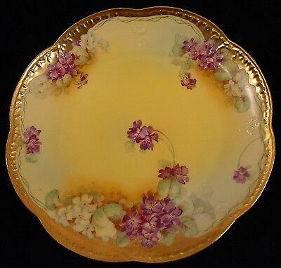 Luncheon Plate in IMQ10  Lavender&White Flowers  by Imperial China Austria