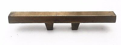 "Brass Mid Century Modern Drawer Pull Vintage  Antique Hardware  1 3/8"" centers"