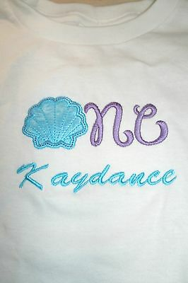 Seashell One Nautical 1st Birthday Personalized Shirt ANY NAME & COLOR SCHEME