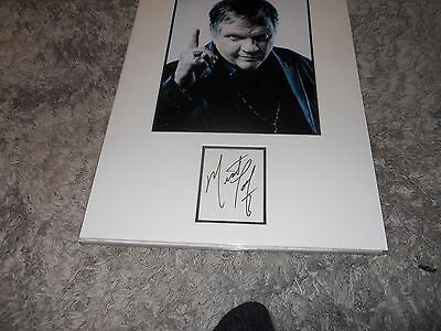 Meatloaf Mounted Autograph