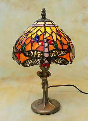 Tiffany Tischlampe Dragonfly Libelle Tiffanylampe Lampe TE17-a