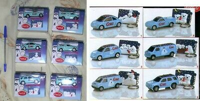 SET 6 Modellini VEICOLI COCA COLA ORSI POLARI Polar Bears CAR MODELS Official