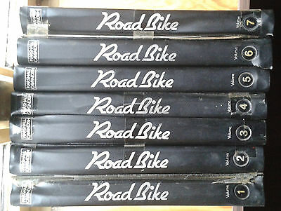 ROAD BIKE - THE CLASSIC 1970s / 1980s MOTORCYCLE MAGAZINE IN 7 HARDBOUND VOLUMES