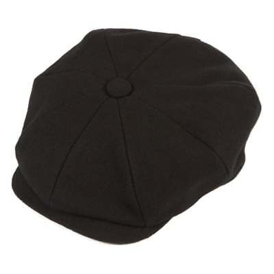 Christys' Hats Baker Boy Cap Melton Wool Black
