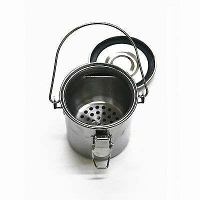 Stainless Steel Artist Paint Brush Washer with Strainer, Lid & Handle