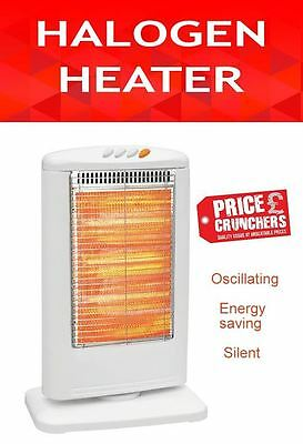Halogen Heater Oscillating 3 Bar Electric Room Space Heater 1200W Energy Saving