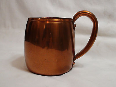 Vintage Mid Century West Bend Solid Copper Made in USA Mug Circa 1961 - 1970