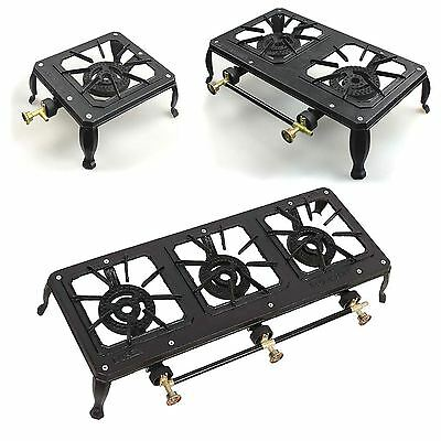 Cast Iron Ring Lpg Gas Burner Cooker Stove Catering Camping Gas Stove 3 Size New