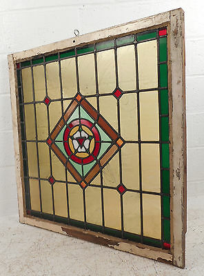 Vintage Stained Glass Window Panel (3008)NJ