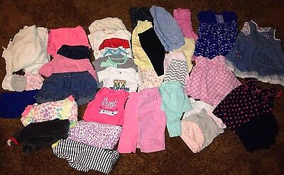 Huge Lot 50+ Baby Girl Clothes Size 3 Months Bodysuits, Pants, Outfits, Sleepers