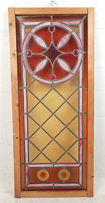 Vintage Stained Glass Window Panel (3052)NJ